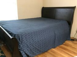 Queen Wooden Bed With Mattress And Box Springs