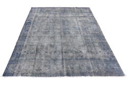 9and039 X 12and039 Pale Antiqued Antique Look Charming Genuine Hand-knotted Rug