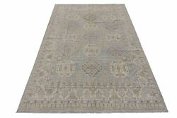 Washed Out Hand-knotted Rug 8x13 Blue Chobi Peshawar Antique Look Rug