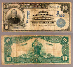 Rogers Ar 10 1902 Db National Bank Note Ch 7789 First Nb Very Good