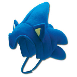 Sonic The Hedgehog Sonic Hair Plush Cosplay Cap Hat Tag Official Ge Animation