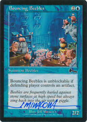Mtg Bouncing Beebles Urza's Legacy Signed By Artist Jeff Miracola W/ Coa