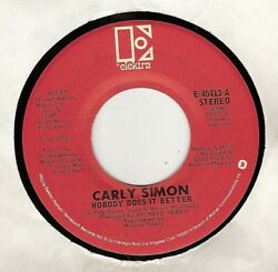 45rpm Carly Simon And039 Nobody Does It Better And039 Exc And039 Folk Rock