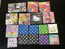 Lot New Paper Party Napkins Lunchbox Minnie Mouse Birthday Emoji Hello Kitty ++