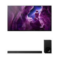 Sony Xbr55a8h 55 Bravia Oled 4k Hdr Tv With Htz9f 3.1-channel Sound Bar And Sub