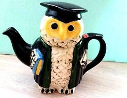 New Tony Carter Ceramic Teapot Collectible Wise Owl Suffolk Pottery Hand Made