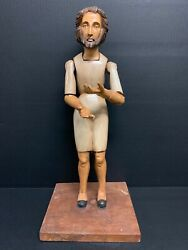 Handcarved Wood Articulated Hands Male Saint Mannequin