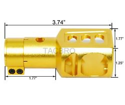 Gold Anodized Aluminum Clamp-on Muzzle Brake For 12ga Mossberg 500 500a