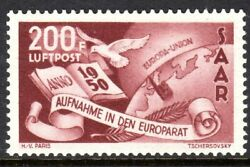 Saar Scott C12 Vf Mnh 1950 Saarand039s Admission To Council Of Europe