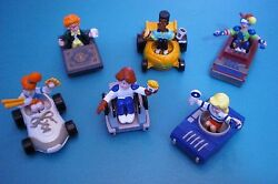 Burger King 1990 - Kids Club Characters In Transporters - Complete Set Of 6