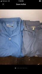 2 Men#x27;s Large Polo Shirts Blue and Gray Nordstrom And Cutter amp; Buck $12.00