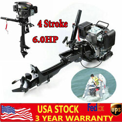 6.0hp 4 Stroke Outboard Motor Fishing Boat Engine Air Cooling Cdi System Manual