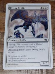 John Howe Magic The Gathering Autographed Diving Griffin Lord Of The Rings Lotr