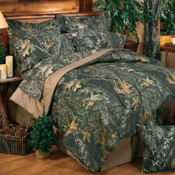 Camouflage Bedding Set Mossy Oak New Break Up Comforter Bed In Bag Add Drapes And