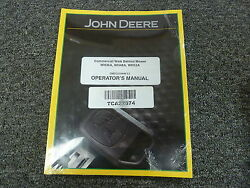 John Deere Wh36a Wh48a Wh52a Commercial Mower Owner Operator Manual Omtcu33440