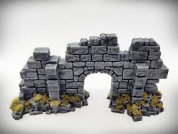 Ruins Terrain Basic Archway Door Wall Small Tabletop Wargaming RPG terrain