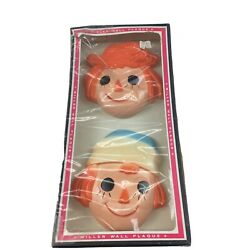 Vintage Chalkware Raggedy Ann And Andy Wall Plaque Miller Wall New In Package