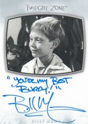 2020 The Twilight Zone Archives - Billy Mumy Ai-23 Inscription You're My Be...