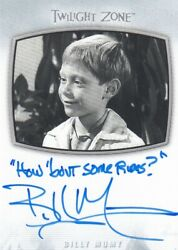 2020 The Twilight Zone Archives - Billy Mumy Ai-23 Inscription How 'bout So...