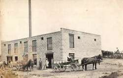 Fremont Michigan Creamery And Delivery Wagons Real Photo Postcard Aa14797
