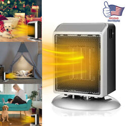 900w Mini Ceramic Electric Heater Home Office Space Heating Portable Fan Silent