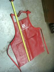 Vintage Rare Feed Store Advertising Red Apron With Purina Sign Logo Poultry