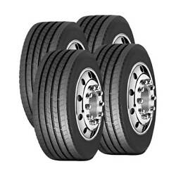 4 Tires 11r24.5 Amulet Af508 Commercial Truck Tire All Position 16 Ply 11 24.5