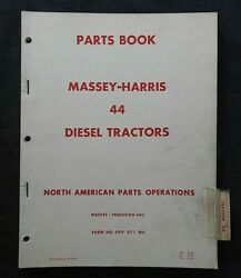 1952-66 Massey Harris M-h 44 Special Diesel Tractor Parts Manual Very Good Shape