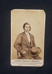 Sioux Uprising 1862, The Indian Who Saved 162 Settlers By Whitney, Rare Cdv
