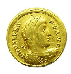 364 - 378 Ad Ancient Roman Gold Solidus Of Emperor Valens Minted At Nicomedia