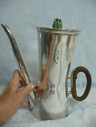 Mid-century Mexican Sterling Los Castillo Coffee/chocolate Pot Turquoise Finial