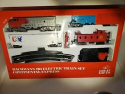 Vintage 1989 Unopened Box Bachmann Ho Electric Continental Express Train Set