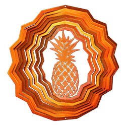 Wind Spinner Pineapple Stainless Laser Cut Windmill + Powder Coated + Swivel