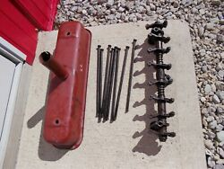 Farmall C Super C Sc Tractor Ih Engine Rocker Arm Assembly Push Rods Valve Cover