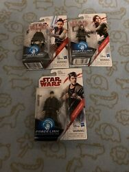 Star Wars Force Link 3.75andrdquo Action Figure Lot Of 3 Dj Jyn Erso And Rey
