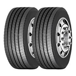 2 Tires 285/75r24.5 Amulet Truck Tire Af508 All Position 16 Ply 2857524.5