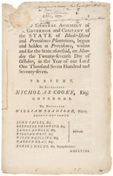 1777 Imprint Miscarriage Of The Expedition Against The Enemy On Rhode-island