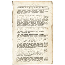 Colonial Currency Connecticut Acts And Laws C. 1750 For Counterfeiting