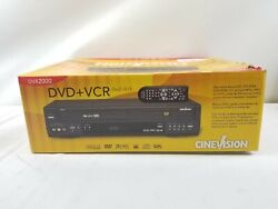 Cinevision Dvr2000 Dvd/vhs Vcr Player Dual Deck Combo