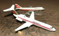 Lot Of 2 Toy Airplanes - Continental And Trans World Airlines Boeing 747