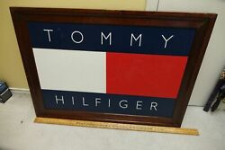 Original Hand Painted Tommy Hilfiger Framed Advertising Store Display 43