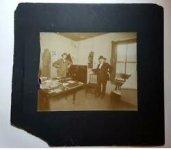 1907 Mellon National Bank Of Pittsburgh Antique Cabinet Photo Panic Of 1907