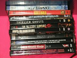 Lot Of 10 Dvds Scary Horror Thriller Freddy Vs Jason, Thirteen Ghosts,the Thing