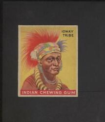 1933 Goudey Indian Gum 115 Series 288 Low Skip Ioway Tribe No Creases