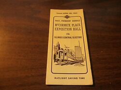APRIL 1961 ILLINOIS CENTRAL ELECTRIC  McCORMICK PLACE EXPOSITION HALL TIMETABLE