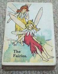 Fairy Snap Card Game C1910 Antique Playing Cards Elves Witch