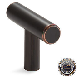 Solid Stainless Steel Cabinet Hardware T Pull 2 Oil Rubbed Bronze - 10 Pk