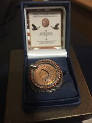 The Bradford Exchange Sterling Silver 1901 Indian Head Penny Ring