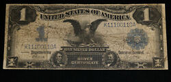 Sc Large Size Silver Certificate 1 One Dollar 1899 F235 Kl50 Vg/f Eagle