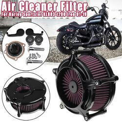 Turbine Air Intake Filter Cleaner For Harley Sportster XL883 1200 Iron 91 19 $82.87